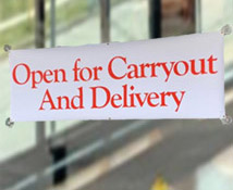 Open for Carryout Banner