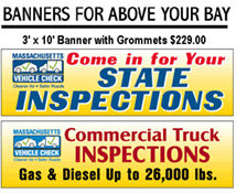 State Inspection Bay Banners